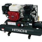 Hitachi EC2510E 5.5-Horsepower Gas Oiled Twin Pontoon Compressor