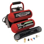 Speedway 8465 2 Gallon Twin Stack Portable Air Compressor