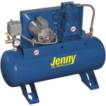 Jenny Compressors F12A-17-208/3 1/2-HP 17-Gallon Tank 3 Phase 208-Volt, Horizontal Electric Single-Stage Stationary Compressor