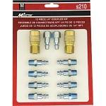 "Milton industries Tools 12-piece M Style 1/4"" NPT Air Coupler Kit S210"