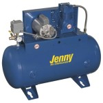 Jenny Compressors 2(F12C)-30C-208/3 1-HP 30-Gallon Tank 3 Phase 208-Volt, Single-Stage Duplex Electric Climate Control Compressor