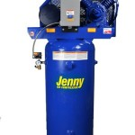 Jenny Compressors J5A-60V-208/3 5-HP 60-Gallon Tank 780 Pump RPM 3 Phase 208-Volt, Vertical Electric Single-Stage Stationary Compressor