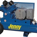 Jenny Compressors GT5B-8P2 5-HP 8-Gallon Tank Electric Two-Stage Wheeled Portable Compressor