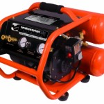 Industrial Air Contractor CSB1680521 4-1/2-Gallon Roll Cage Oil Free Direct Drive Air Compressor, Orange